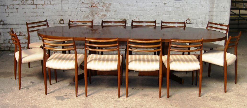 Sarah Potter Mid Century and Modern Furniture. Rosewood Danish Dining Table And Chairs. Home Design Ideas
